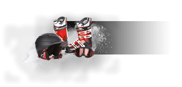 Ski shoes and helmet free PNG