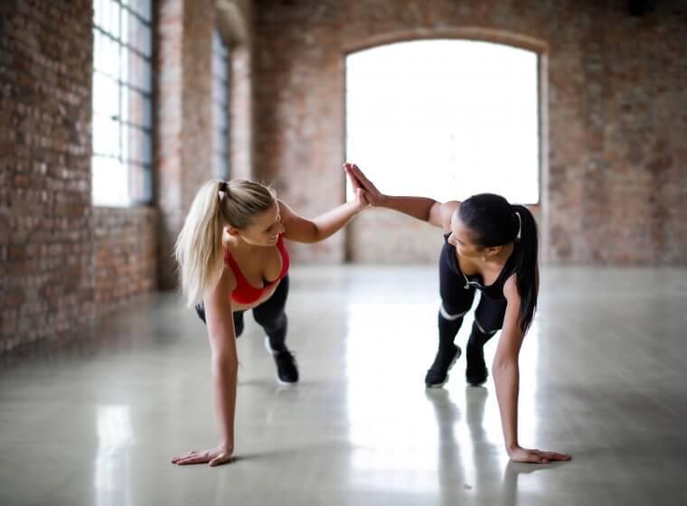 Women at workout